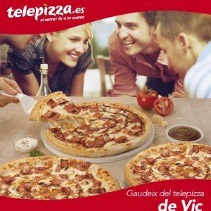 Telepizza: mitjana fins a 3 ingredients a preu U-Vals!